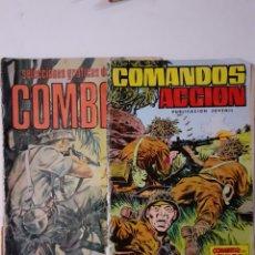 Tebeos: 2 COMICS DE GUERRA. CUBIERTAS DEFECTUOSAS. PRODUCCIONES EDITORIALES Y EDITORIAL VALENCIANA.. Lote 276086003