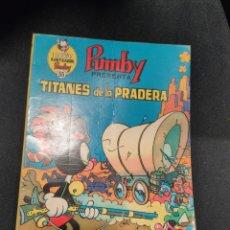 Tebeos: LIBROS ILUSTRADOS PUMBY 55, TITANES DE LA PRADERA, SANCHÍS. Lote 276519238