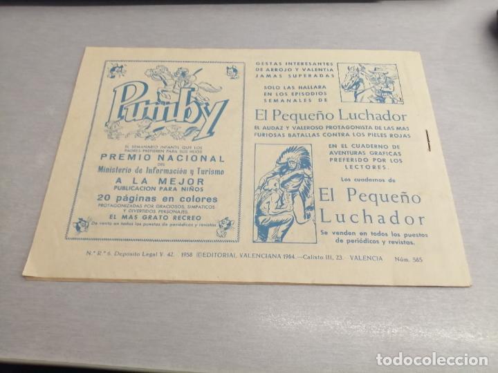 Tebeos: EL GUERRERO DEL ANTIFAZ Nº 565 / VALENCIANA ORIGINAL - Foto 2 - 277061973
