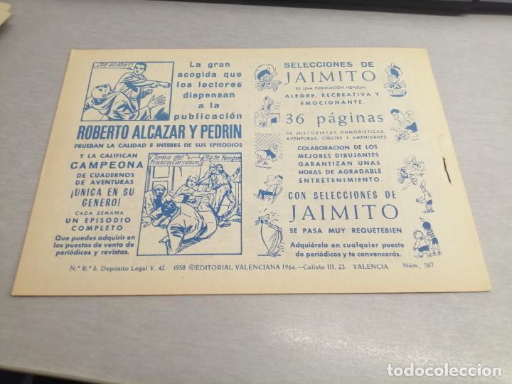 Tebeos: EL GUERRERO DEL ANTIFAZ Nº 567 / VALENCIANA ORIGINAL - Foto 2 - 277062123
