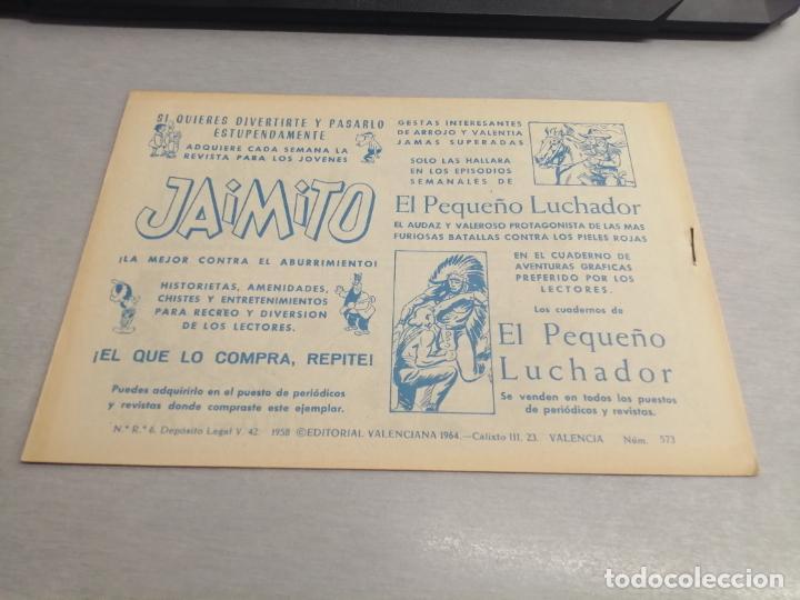 Tebeos: EL GUERRERO DEL ANTIFAZ Nº 573 / VALENCIANA ORIGINAL - Foto 2 - 277062498