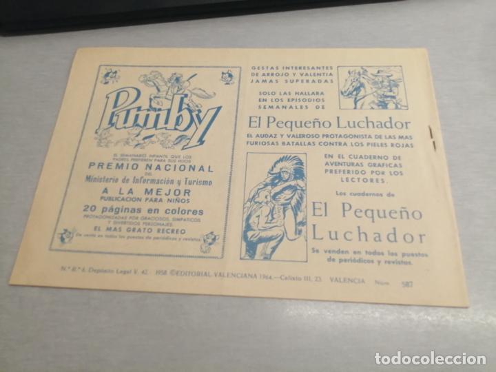 Tebeos: EL GUERRERO DEL ANTIFAZ Nº 587 / VALENCIANA ORIGINAL - Foto 2 - 277063143