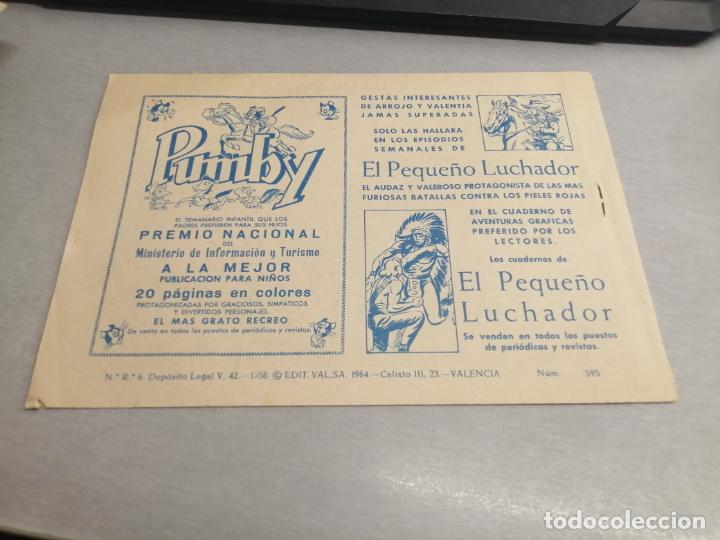 Tebeos: EL GUERRERO DEL ANTIFAZ Nº 595 / VALENCIANA ORIGINAL - Foto 2 - 277063503