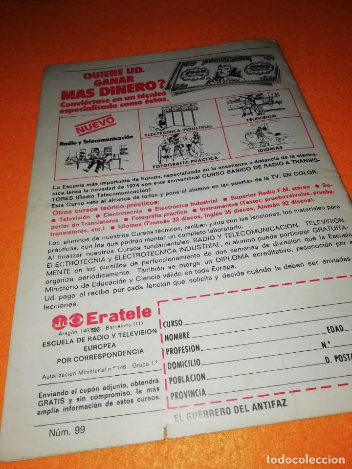 Tebeos: EL GUERRERO DEL ANTIFAZ Nº 99 . EDITORIAL VALENCIANA 1974. - Foto 2 - 277576678