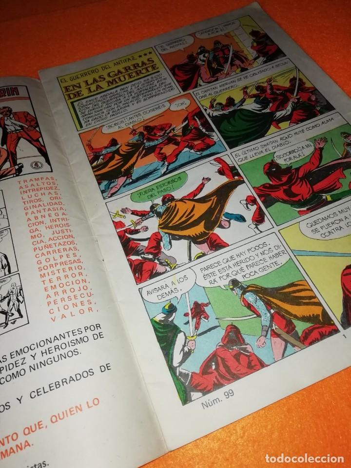 Tebeos: EL GUERRERO DEL ANTIFAZ Nº 99 . EDITORIAL VALENCIANA 1974. - Foto 3 - 277576678