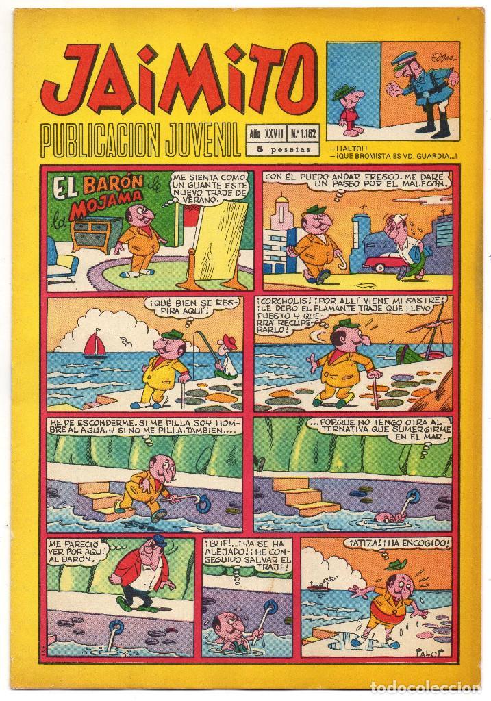 Tebeos: JAIMITO nº 1052, 1064, 1122, 1139, 1158, 1182, 1208 y 1216 (Valenciana 1970/73) 8 tebeos. - Foto 12 - 267911159