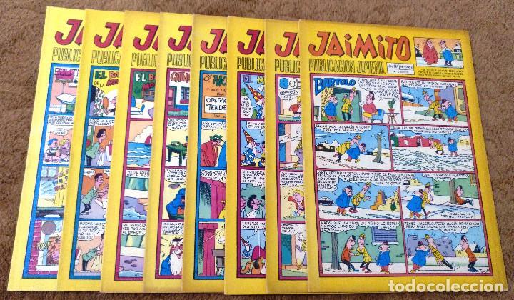 JAIMITO Nº 1052, 1064, 1122, 1139, 1158, 1182, 1208 Y 1216 (VALENCIANA 1970/73) 8 TEBEOS. (Tebeos y Comics - Valenciana - Jaimito)