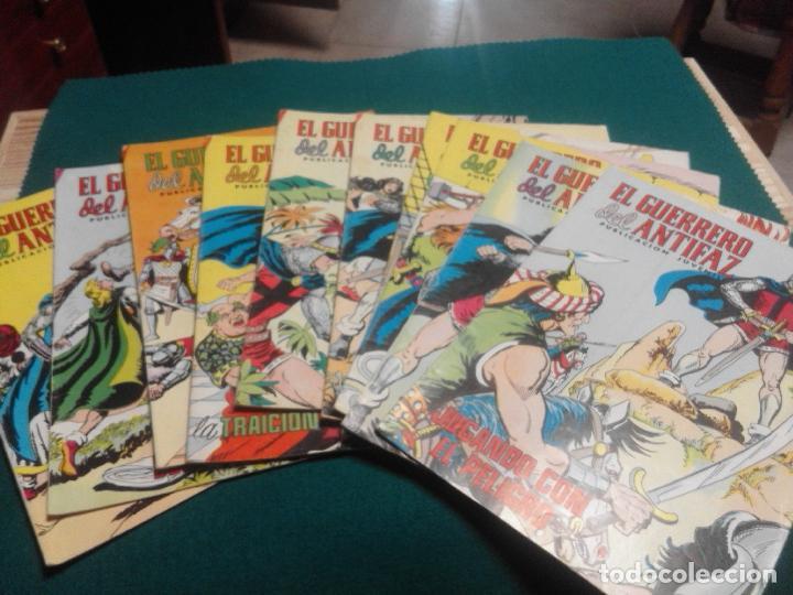 LOTE DE 10 GUERRERO DEL ANTIFAZ AÑOS 70 (Tebeos y Comics - Valenciana - Guerrero del Antifaz)