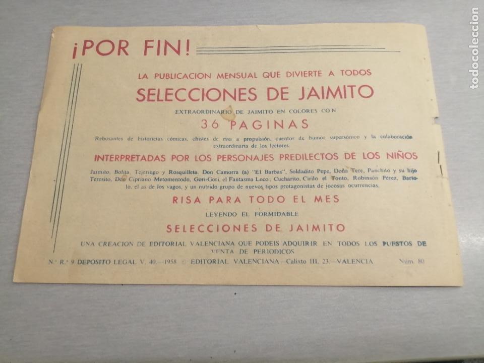 Tebeos: EL HIJO DE LA JUNGLA Nº 80 / VALENCIANA ORIGINAL - Foto 2 - 278885533