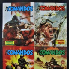 Tebeos: COMANDOS Nº 1, 2, 3 Y 4 - EDITORIAL VALENCIANA 1981. Lote 282195748