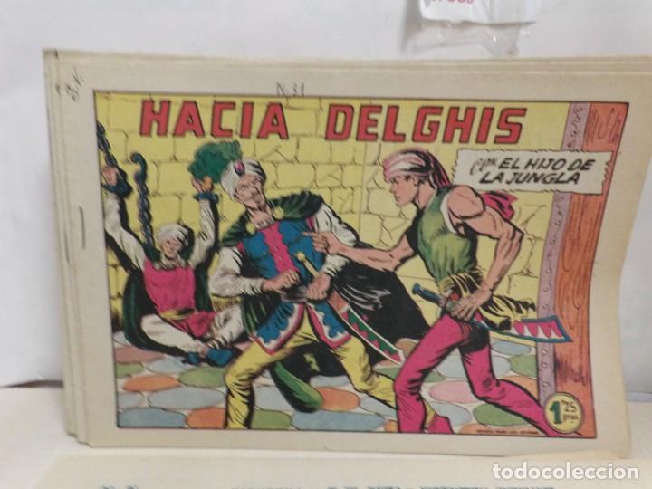 Tebeos: HIJO DE LA JUNGLA -COLECCION COMPLETA 1-86--EDI.VALENCIANA AÑO 1956--M.GAGO-1 EDICION -ORIGINAL - Foto 3 - 283171303