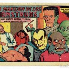 Tebeos: ROBERTO ALCAZAR Y PEDRIN Nº 455 - LA MANSIÓN DE LOS MONSTRUOS - VALENCIANA - 1961. Lote 283207088