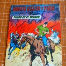 Tebeos: COMIC ROBERTO ALCAZAR Y PEDRIN EXTRA FUEGO EN EL SAHARA 1958. Lote 286323538