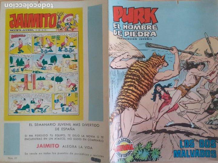 Tebeos: Purk eol Hombre de Piedra nº 87. Valenciana 1975. Buen estado - Foto 2 - 286535813