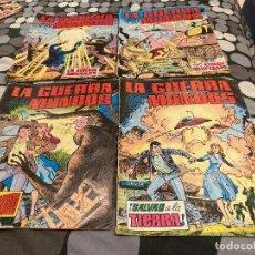 Tebeos: LA GUERRA DE LOS MUNDOS 1-4 COMPLETA - EDITORIAL VALENCIANA 1979. Lote 287547163