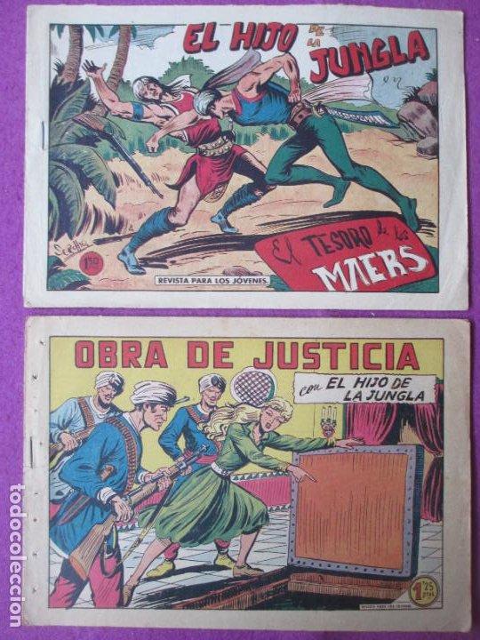 Tebeos: LOTE 9 TEBEOS EL HIJO DE LA JUNGLA ED. VALENCIANA 1958 VER FOTOS ADICIONALES - Foto 2 - 287731993