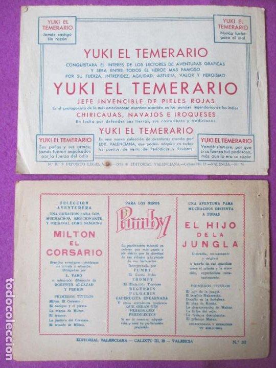 Tebeos: LOTE 9 TEBEOS EL HIJO DE LA JUNGLA ED. VALENCIANA 1958 VER FOTOS ADICIONALES - Foto 3 - 287731993