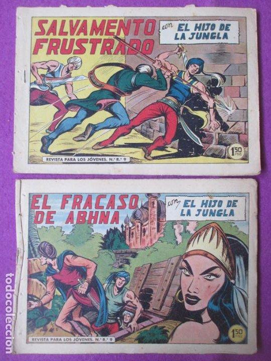 Tebeos: LOTE 9 TEBEOS EL HIJO DE LA JUNGLA ED. VALENCIANA 1958 VER FOTOS ADICIONALES - Foto 4 - 287731993