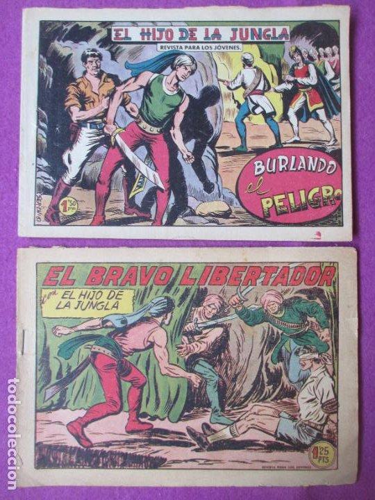Tebeos: LOTE 9 TEBEOS EL HIJO DE LA JUNGLA ED. VALENCIANA 1958 VER FOTOS ADICIONALES - Foto 6 - 287731993