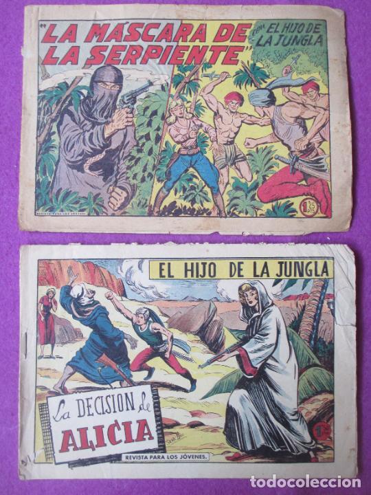 Tebeos: LOTE 9 TEBEOS EL HIJO DE LA JUNGLA ED. VALENCIANA 1958 VER FOTOS ADICIONALES - Foto 8 - 287731993