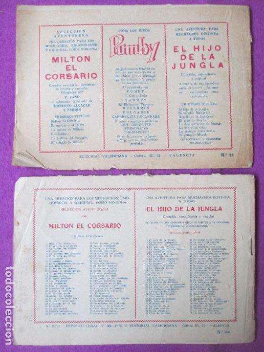 Tebeos: LOTE 9 TEBEOS EL HIJO DE LA JUNGLA ED. VALENCIANA 1958 VER FOTOS ADICIONALES - Foto 9 - 287731993