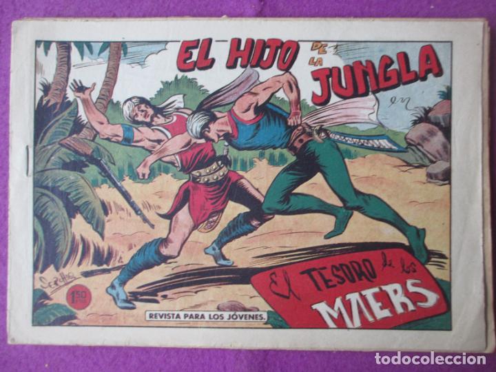 LOTE 9 TEBEOS EL HIJO DE LA JUNGLA ED. VALENCIANA 1958 VER FOTOS ADICIONALES (Tebeos y Comics - Valenciana - Hijo de la Jungla)