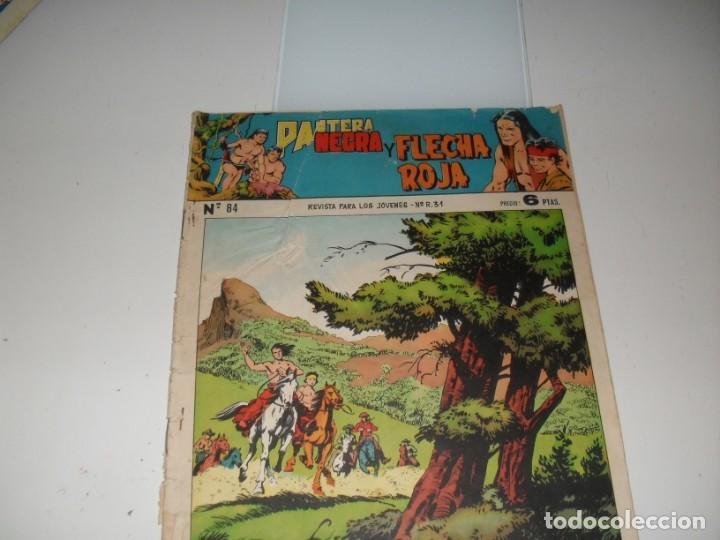 PANTERA NEGRA Y FLECHA ROJA 84.EDITORIAL MAGA,AÑOS 60. (Tebeos y Comics - Valenciana - Otros)