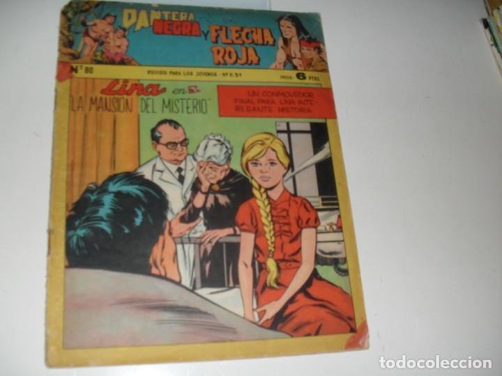 PANTERA NEGRA Y FLECHA ROJA 80.EDITORIAL MAGA,AÑOS 60. (Tebeos y Comics - Valenciana - Otros)