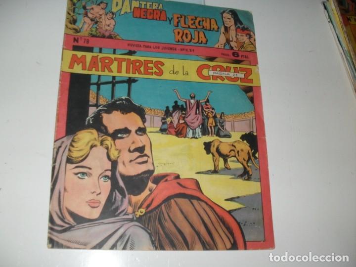 PANTERA NEGRA Y FLECHA ROJA 79.EDITORIAL MAGA,AÑOS 60. (Tebeos y Comics - Valenciana - Otros)