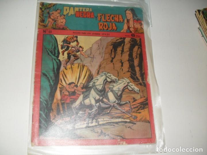 PANTERA NEGRA Y FLECHA ROJA 69.EDITORIAL MAGA,AÑOS 60. (Tebeos y Comics - Valenciana - Otros)