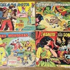 Tebeos: LOTE 4 EJEMPLARES YUKI EL TEMERARIO. NºS 45,69,70 Y 79. VALENCIANA. ORIGINAL.. Lote 287941793