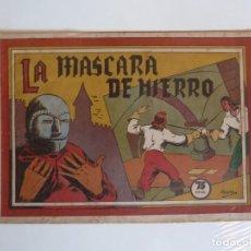Tebeos: SELECCION AVENTURERA Nº 42 LA MÁSCARA DE HIERRO, VALENCIANA 1941, ORIGINAL. Lote 288177433