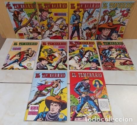 EL TEMERARIO COLOSOS DEL COMIC - COLECCION COMPLETA 10 NUMEROS - EXCELENTE ESTADO. (Tebeos y Comics - Valenciana - Colosos del Comic)