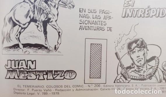 Tebeos: EL TEMERARIO COLOSOS DEL COMIC - COLECCION COMPLETA 10 NUMEROS - EXCELENTE ESTADO. - Foto 8 - 288314883