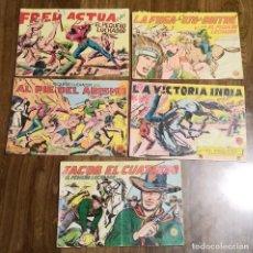 Tebeos: LOTE 5 EJEMPLARES EL PEQUEÑO LUCHADOR. NºS 46,53,56,156, Y 162. VALENCIANA. ORIGINAL.. Lote 288381923