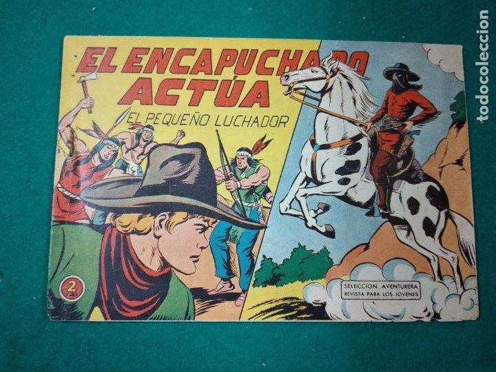 EL PEQUEÑO LUCHADOR Nº 103. EL ENCAPUCHADO ACTUA. EDITORIAL VALENCIANA 1960. (Tebeos y Comics - Valenciana - Pequeño Luchador)