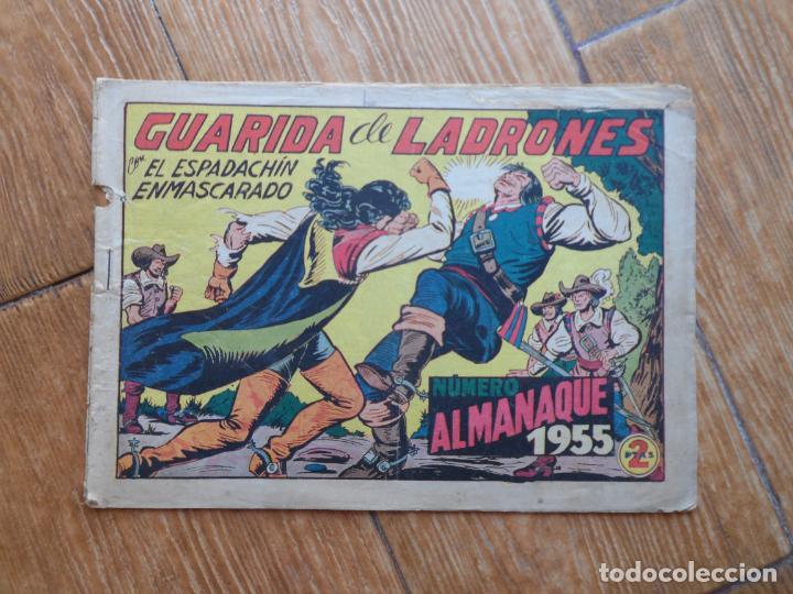 ESPADACHÍN ENMASCARADO, EL Nº 139 ALMANAQUE 1955 EDITORIAL VALENCIANA (Tebeos y Comics - Valenciana - Espadachín Enmascarado)