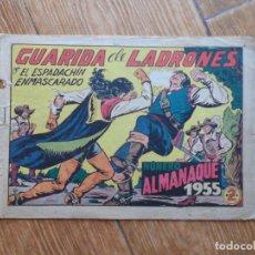 Tebeos: ESPADACHÍN ENMASCARADO, EL Nº 139 ALMANAQUE 1955 EDITORIAL VALENCIANA. Lote 288570193