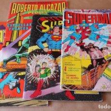 Tebeos: 4 ÁLBUM GIGANTE VALENCIANA: SUPERMAN ORIGEN, HOMBRE.., ROBERTO ALCAZAR ESTRELLAS.., BATMAN EL CASO... Lote 265926008
