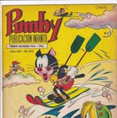 Tebeos: PUMBY : NUMERO 515 EL BOSQUE ACUATICO, EDITORIAL VALENCIANA. Lote 289229208