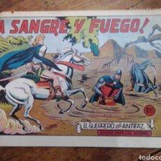 Tebeos: A SANGRE Y FUEGO N° 34 CON EL GUERRERO DEL ANTIFAZ. Lote 289431663