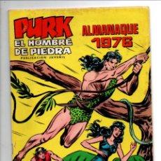 Tebeos: PURK, EL HOMBRE DE PIEDRA. ALMANAQUE 1976. SELECCION AVENTURERA. EDIVAL, 1975. Lote 290094708