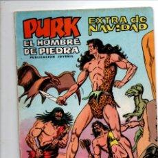Tebeos: PURK, EL HOMBRE DE PIEDRA. EXTRA DE NAVIDAD. SELECCION AVENTURERA. EDIVAL, 1974. Lote 290096178