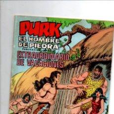Tebeos: PURK, EL HOMBRE DE PIEDRA. EXTRAORDINARIO DE VACACIONES. SELECCION AVENTURERA. EDIVAL, 1975. Lote 290096413