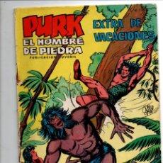 Tebeos: PURK, EL HOMBRE DE PIEDRA. EXTRA DE VACACIONES. SELECCION AVENTURERA. EDIVAL, 1974. Lote 290096558