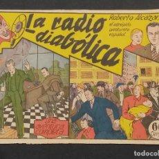 Tebeos: ROBERTO ALCAZAR Y PEDRIN 1ª EDICIÓN VALENCIANA 1942. LA RADIO DIABOLICA Nº 6. Lote 291989823