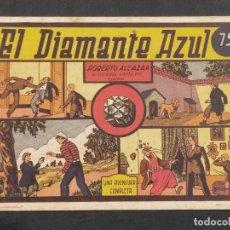 Tebeos: ROBERTO ALCAZAR Y PEDRIN , EL DIAMANTE AZUL , 75 CENTS ORIGINAL .. Lote 292097263