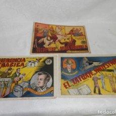 Tebeos: X 3 BOB TAYLER EL JUSTICIERO, 1941, EDITORIAL VALENCIANA, ORIGINALES, 60 CTS. Lote 293151178