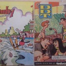 Tebeos: LOTE DE DOS TEBEOS: EL DDT Nº 493 (1960) + PUMBY Nº 187 (1961). NUEVOS. VER FOTOS.. Lote 293516478