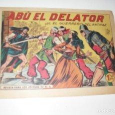 Livros de Banda Desenhada: EL GUERRERO DEL ANTIFAZ,ORIGINAL APAISADO Nº 328.EDITORIAL VALENCIANA,AÑO 1944.. Lote 293816008
